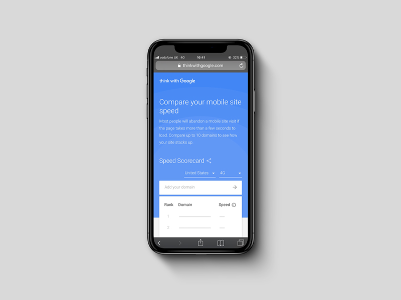 Introducing the mobile Speed Scorecard and Impact Calculator